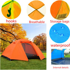 2 Person Double Layer Waterproof Windproof Camping Hiking Outdoor Tent Lot LQK4