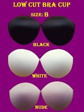 Low Cut Sew in Bra Cups designed to Dressmaking / Bridal Alterations Size: B