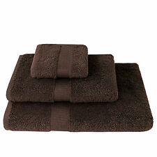 naturehome Terry Cloth Towels 100% Cotton (Organic) Dark Brown 580G/m² 3 Sizes