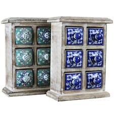 Desktop Chest of 6 Drawers Box Boxes Tabletop Jewelry Jewellery Decorative