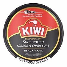 Kiwi Leather Shoe Boot Polish Rich Glossy Shine Wax Protection Black  36 ml