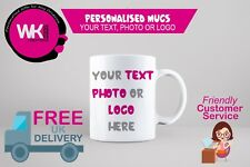 CUSTOM PRINTED MUG PERSONALISED GIFT YOUR PHOTO, LOGO OR TEXT PRINTED
