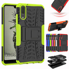 Hybrid Shockproof Armor Grip Hard Stand TPU Case Cover For Huawei P20 Pro Lite