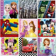 40 Licensed Party Napkins 2 Packs of 20 - Choose Required Character Procos