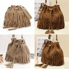 Fashion Women Tassel Bag Fringe Tassel SHoulder Messenger Hobo Handbag Purse US