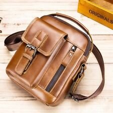 Men's Leather Shoulder Bags Satchel Small Handbag Tablet Bag Crossbody Messenger