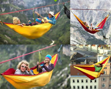 Hammock 2 Person Parachute Cloth Outdoor Garden Camping Hanging Swing Bed Safe