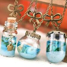 Necklace Vintage Mermaid Tears Shells Star Vial Necklace Shellhard Blue Sea