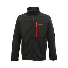REGATTA NORTHBANK MENS SOFTSHELL JACKET BLACK WATER REPELLENT RML106 E2