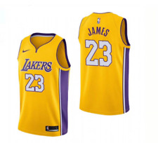 NWT Men's Los Angeles Lakers LeBron James #23 Yellow Swingman Jersey Size S-XXL