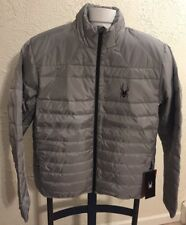 SPYDER Ski Apparel Prymo Down Jacket Full Zip Limestone Gray NEW Men's NWT $199