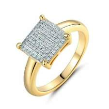 Women's Ring Wedding Rings For Women Gold-Color Crystal Cubic Zirconia Square