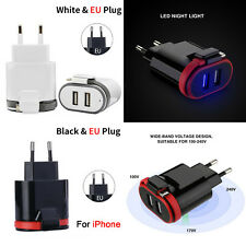 Dual USB Charger VOGEK with Cable USB Wall Charger Fast Charge Travel For iPhone