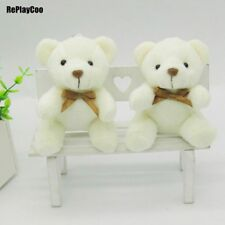40Pcs/Lot Kawaii Small Joint Teddy Bears Stuffed Plush With Chain Sit Height