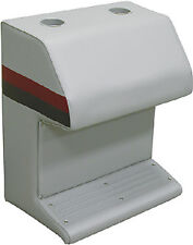 Wise Seating-Deluxe Pontoon Furniture, Captain Stand, Light Gray/Red/Cha