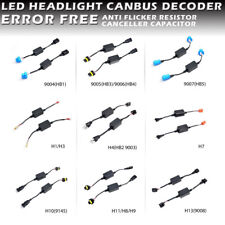 LED Headlight Canbus Decoder Error Free Warning Canceller Anti Flicker Plug-Play