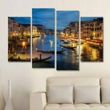 Unframed Spray Decor Painting Oil Venice Night Printed Wall Art On Canvas