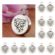 Heart Print Urn Pendant Memorial Keepsake Ashes for Necklace Earring Charms