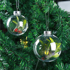 5pcs Christmas Hanging Clear Transparent Ball Bauble Christmas Decoration