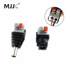 Pressing LED Strip Connector 5.5x2.1mm Male Female DC Power Plug Jack Adapter