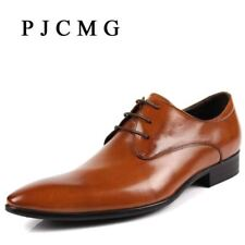 PJCMG Hot Sale Fashion High Quality Genuine Leather Men Oxfords, Lace-Up Busines