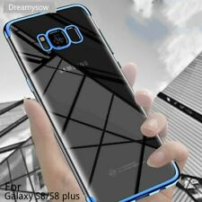 Ultra Thin Metallic Transparent Case Cover Samsung Galaxy S8 S8 S6 S7 Plus Edge