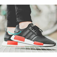 NEW ADIDAS NMD R1 RUNNING SHOES CORE BLACK RED WHITE BB1969 MENS SIZE 9