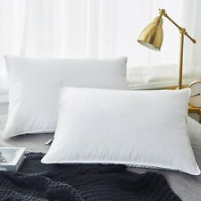 Puredown® 2 Pack 300 TC White Goose Down Feather Pillow Standard Queen King