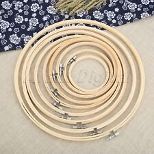 9Size Hand Embroidery Hoop Wooden Circle Frame Cross Stitch Round Loop Household