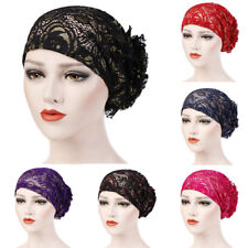Women Lace Floral Muslim Ruffle Cancer Chemo Hat Beanie Turban Head Wrap Cap