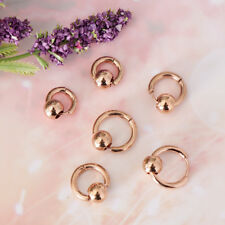 3 Pairs Stainless Steel Huggie Hinged Endless Hoop Earrings Piercing Jewelry