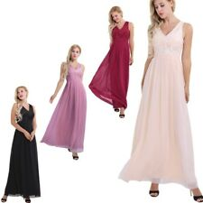 CLEARANCE Women Bridesmaid Long Dress Wedding Evening Party Cocktail Prom Gown