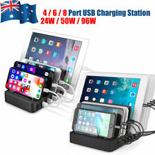 4 / 6 / 8 Port USB Charger Station Stand Holder for iPhone iPad Tablet Android