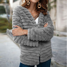 Nadafair Cardigan Fur Coat Women Long Sleeve Shaggy Autumn Winter Faux Fur