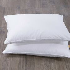 Puredown® White Goose Feather Bed Pillow, Set of 2, 100% Cotton Cover, 233 TC