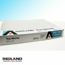 "REDLAND Tray Sleeves Size B 10.5"" x 14"" Clear Disposable Dental Vet 500/Box -FDA"