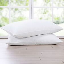 Puredown® 30% Natural Goose Down Pillows with 100% Cotton Pillow Cover