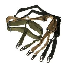 Tactical Two 2 Point Rifle Sling Strap Adjustable Bungee Gun Sling Quick Release
