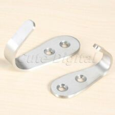 2pcs Stainless Steel Hangers Holder Wall Mounted Hat Coat Clothes Single Hooks