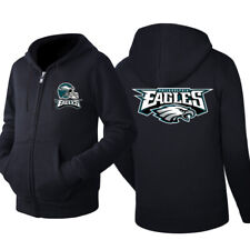 Philadelphia Eagles Football Hoodie Warm Jacket Sweatshirt Full-Zip Coat New