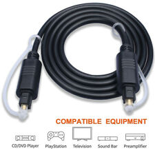 Gold Plated Toslink Digital Optical Audio Cable SPDIF Cord For DVD PS3 Xbox TV