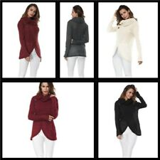 Knitted Loose Women's Pullover Casual Tops Sweater Knit Shirt Blouse T-Shirt