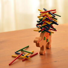 Colorful Wooden Elephant Camel Balancing Stack Block Development Kids Toy Gift