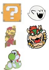 Super Mario Bros N64 Yoshi Bowser Pin Badge Snes Gift Toy - Brand New