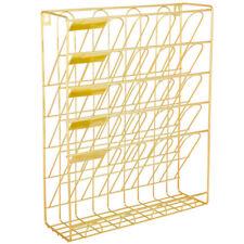 Hanging Wall File Organizer, 5 Slot Wire Metal Wall Mounted Document Holder for