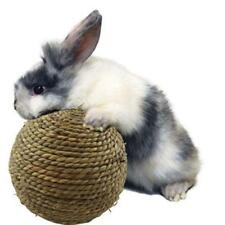 6/9cm Straw Woven Play Ball Natural Grass Ball Pet Rabbit Hamster Bird Toy HD