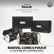 Volvik New Premium Marvel Comics Golf Pouch Bag Portable Carry Black Navy Color