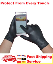 100PCS Black Anti-VIRUS Prevent Proof Disposable safety Medical Nitrile Gloves