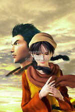 122286 Shenmue II Ryo and Shenhua Sega DreamCast Decor LAMINATED POSTER FR
