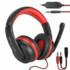 Wired Gaming Headset With Mic For PS4 Xbox One Nintendo Laptop PC Computer